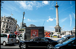 April 17, 2018 - London, London, United Kingdom - Anti PM Modi Protest. An Advertising van driving around Trafalgar Square with Anti PM Modi messages on it, prior to his visit to Britain on Tuesday 17th April, 2018. (Credit Image: © Andrew Parsons/i-Images via ZUMA Press)