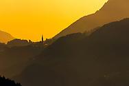 Sunset time in italian Alps