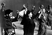 jewish prisoners captured taken during the destruction of the Warsaw Ghetto, Poland, 1943.
