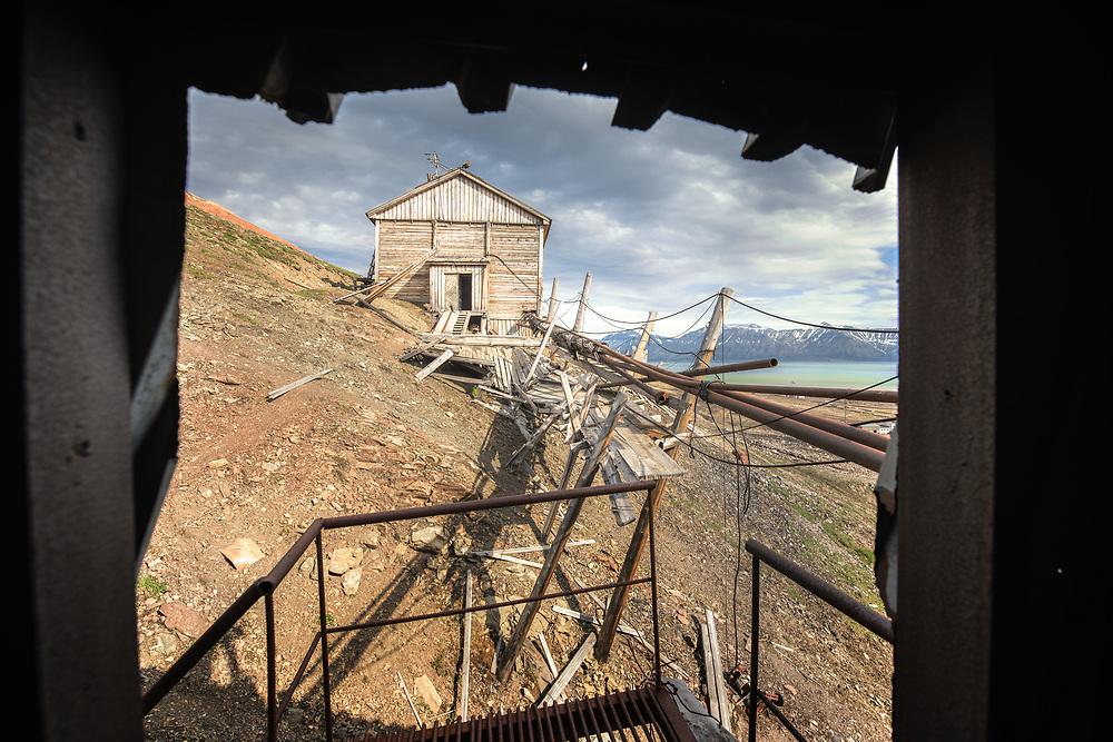 Coal mine at Pyramiden, Spitsbergen