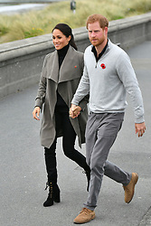 The Duke and Duchess of Sussex, ahead of meeting with young people in the mental health sector at the Wellington Cafe, Wellington, New Zealand. PRESS ASSOCIATION Photo. PRESS ASSOCIATION Photo. Picture date: Sunday October 28, 2018. See PA story ROYAL Tour. Photo credit should read: Dominic Lipinski/PA Wire