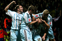 Chris Porter celebrates after scoring for Derby<br />12.12.09, Watford / Derby County / Coca Cola Championship: Andy Hone / Fotosports International / 2009/10