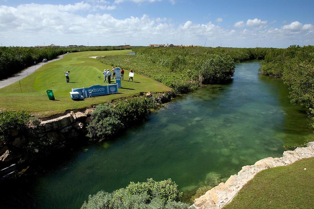 PGA Tour player Brian Gay competes at the Mayakoba Classic at El Camaleon golf course in Riviera Maya, Mexico.