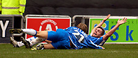 Photo. Jed Wee.<br /> Wigan Athletic v Crystal Palace, Nationwide League Division One, JJB Stadium, Wigan. 01/11/03.<br /> Wigan's Geoff Horsfield (R) celebrates his goal with Jimmy Bullard.