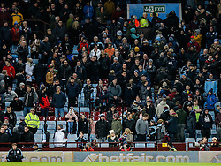 A small propoprtion of Aston Villa supporters head for the exits in the holte end on 74 minutes in protest at the clubs poor results this season - Mandatory byline: Rogan Thomson/JMP - 01/03/2016 - FOOTBALL - Villa Park Stadium - Birmingham, England - Aston Villa v Everton - Barclays Premier League.