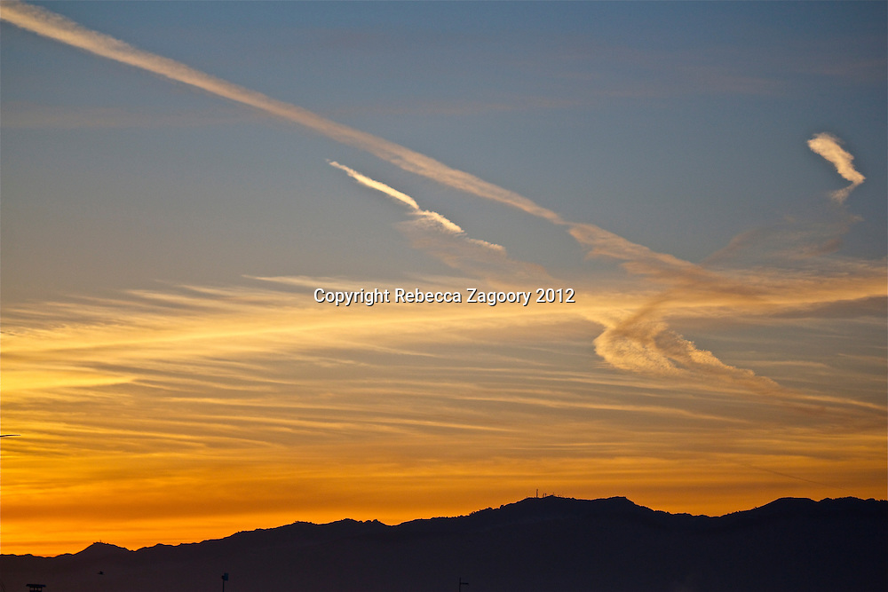 Feathered Sky over Mountains in Santa Monica