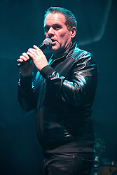 """© Licensed to London News Pictures . 02/12/2015 . Manchester , UK . Radio presenter CHRIS MOYLES is booed by some in the crowd as he introduces Noel Gallagher . """" Radio X Road Trip """" at the O2 Apollo in Manchester . Photo credit : Joel Goodman/LNP"""