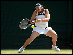 France's Marion Bartoli  against Sabine Lisicki,  Bartoli   went on to win her first Grand Slam title with a dominant 6-1 6-4 victory over Sabine Lisicki in the  Women's Final at the Wimbledon Tennis Championships<br /> The All England Lawn Tennis Club, Wimbledon, United Kingdom<br /> Saturday, 6th July 2013<br /> Picture by Andrew Parsons / i-Images