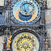 The Historic Astronomical Clock in Prague's Old Town Square