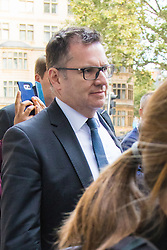 London, September 22nd 2016.  John Scouler, the former commercial director for food, charged with one count of fraud by abuse of position and one count of false accounting, arrives at Westminster Magistrates Court, following the 2014 £263m-plus accounting scandal at the supermarket chain. ©Paul Davey<br /> FOR LICENCING CONTACT: Paul Davey +44 (0) 7966 016 296 paul@pauldaveycreative.co.uk