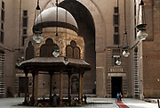 Main courtyard of the Sultan Hassan Mosque in the Old City, Cairo