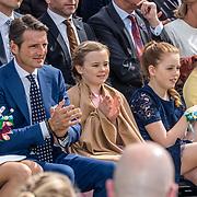NLD/Tilburg/20170427- Koningsdag 2017, Prinses  Marilène , Prins Maurits, Prinses, Ariane, Prinses, Alexia en Prinses Amalia
