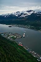 Juneau (left), Gastineau Channel & Douglas Island