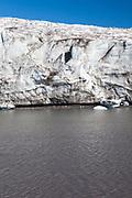 Esmark Glacier, Esmarkbreen, on Isfjorden in Svalbard.