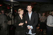 Tom Sykes and his wife Sasha,  Book launch for ' What Did I Do last night' by Tom Sykes. Century Club. Shaftesbury Ave. London. 16 January 2006. -DO NOT ARCHIVE-© Copyright Photograph by Dafydd Jones. 248 Clapham Rd. London SW9 0PZ. Tel 0207 820 0771. www.dafjones.com.