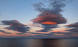 Sunset over Whitley Bay in Tyne and Wear.