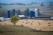 Grain bins and hay stacks at Joel Salatin's farm in Virginia's Shenandoah Valley. (Joel Salatin is featured in the book What I Eat: Around the World in 80 Diets.)