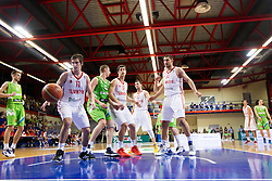 Players during basketball match between National teams of Turkey and Slovenia in Qualifying Round of U20 Men European Championship Slovenia 2012, on July 17, 2012 in Domzale, Slovenia. (Photo by Vid Ponikvar / Sportida.com)