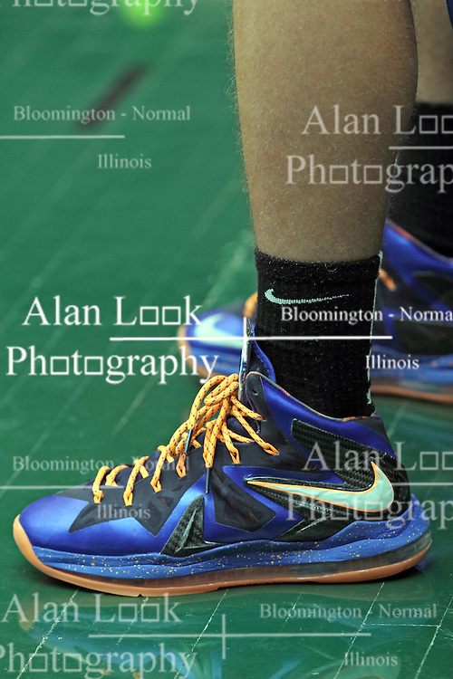 29 June 2013: Blue and black Nike Basketball Shoe. This image available for EDITORIAL USE ONLY. A release may be required. Additional information by contacting alook at alanlook.com