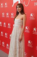 Dakota Johnson at the photocall for the film Suspiria at the 75th Venice Film Festival, on Saturday 1st September 2018, Venice Lido, Italy.