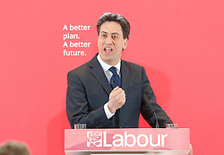 Ed Miliband <br /> leader of the Labour Party <br /> speech at RIBA Royal Institute of British Architecture, London, Great Britain <br /> 29th April 2015 <br /> General Election Campaign 2015 <br /> <br /> <br /> Ed Miliband <br /> <br /> <br /> Photograph by Elliott Franks <br /> Image licensed to Elliott Franks Photography Services