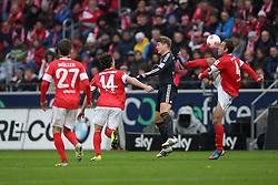02.02.2013, Coface Arena, Mainz, GER, 1. FBL, 1. FSV Mainz 05 vs FC Bayern Muenchen, 20. Runde, im Bild Nikolce NOVESKI (FSV Mainz 05 - 4) - Toni KROOS (FC Bayern Muenchen - 39) - Julian BAUMGARTLINGER (FSV Mainz 05 - 14) - Nicolai MUELLER - MULLER (FSV Mainz 05 - 27) // during the German Bundesliga 20th round match between 1. FSV Mainz 05 and FC Bayern Munich at the Coface Arena, Mainz, Germany on 2013/02/02. EXPA Pictures © 2013, PhotoCredit: EXPA/ Eibner/ Gerry Schmit..***** ATTENTION - OUT OF GER *****