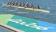 "Rio de Janeiro. BRAZIL.  GBR W8+, GBR W8+. Katie<br /> GREVES, Melanie  WILSON, Frances HOUGHTON, Polly  SWANN,  Jessica EDDIE,  Olivia CARNEGIE-BROWN, Karen BENNETT, Zoe LEE and  Zoe DE TOLEDO, 2016 Olympic Rowing Regatta. Lagoa Stadium,<br /> Copacabana,  ""Olympic Summer Games""<br /> Rodrigo de Freitas Lagoon, Lagoa.   Saturday  13/08/2016 <br /> <br /> [Mandatory Credit; Peter SPURRIER/Intersport Images]"