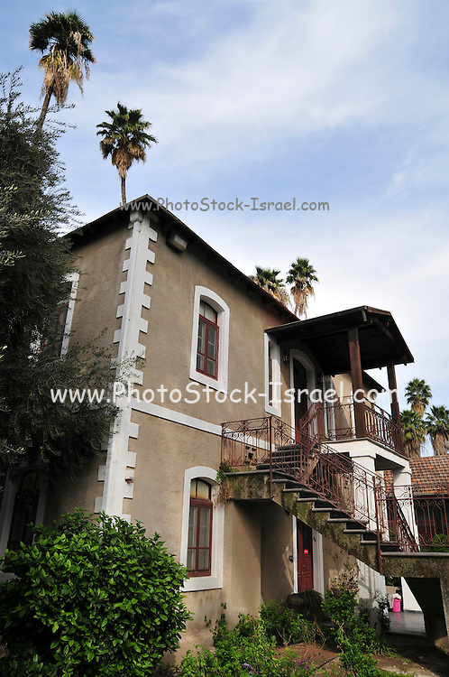 Israel, Jordan Valley, Kibbutz Degania Alef the first kibbutz established by Jewish Zionist pioneers in the areas of the Land of Israel, then under Ottoman rule. It was founded in 1909 by the World Zionist Organization. The Historic buildings and courtyard built in 1912