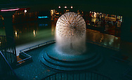 Fountain up near the Seattle Space Needle