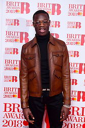 J Hus attending the Brit Awards 2018 Nominations event held at ITV Studios on Southbank, London.