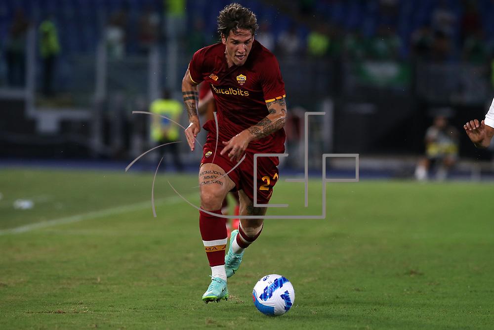 Roma 14/08/2021 Stadio Olimpico<br /> Amichevole <br /> AS Roma vs Raja Club Athletic<br /> Nicolo Zaniolo (Roma)