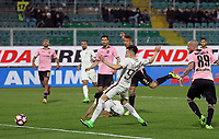 Gol Stephan El Shaarawy Roma Goal celebration <br /> Palermo 12-03-2017 Stadio La Favorita Football Calcio Serie A 2016/2017 Palermo - Roma Foto Gino Mancini / Insidefoto