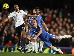 10.11.2010, Stamford Bridge, London, ENG, PL, FC Chelsea vs FC Fulham, im Bild .Lst minute defending from John Terry, the Captain  of Chelsea during Chelsea fc vs  Fulham fc for the EPL at Stamford Bridge in London on 10/11/2010. EXPA Pictures © 2010, PhotoCredit: EXPA/ IPS/ Marcello Pozzetti +++++ ATTENTION - OUT OF ENGLAND/UK +++++