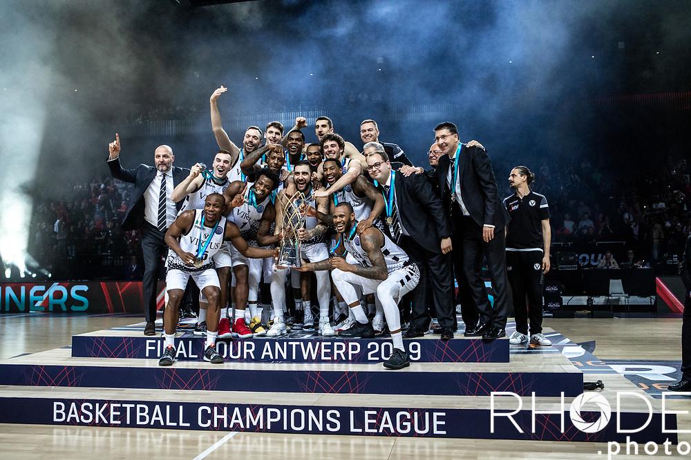 Virtus Segafredo Bologna wins the Basketball Champions League Final Four Antwerp 2019<br /> Final: Virtus Segafredo Bologna (ITA) vs. Iberostar Tenerife  73 - 61<br /> <br /> ©RhodePhoto