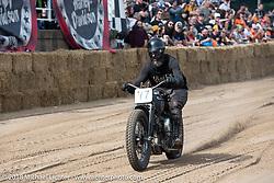 Josh Kohn at the Bradford Beach Brawl, a TROG style beach racing event, during the Harley-Davidson 115th Anniversary Celebration event. Milwaukee, WI. USA. Saturday September 1, 2018. Photography ©2018 Michael Lichter.