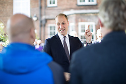 © Licensed to London News Pictures . 14/09/2017 . Liverpool , UK . The Duke of Cambridge , Prince William , visits the Life Garden during a visit to Life Rooms in Walton . Life Rooms provides community support to help people recover from mental health issues . Photo credit : Joel Goodman/LNP