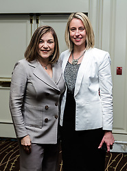 IRVINE, CA - MARCH 2:  Congresswoman Loretta Sanchez (L) and  Megan Harless (R), Vice President, Business Development at local nonprofit Working Wardrobes pose at the Working Wardrobes Dream Girls & Distinguished Gentlemen 2013 event at the Irvine Hilton in Irvine, CA. Working Wardrobes (http://www.workingwardrobes.org) is a non-profit organization located in Costa Mesa, CA. PHOTO: © 2013 SILVEX.PHOTOSHELTER.COM.