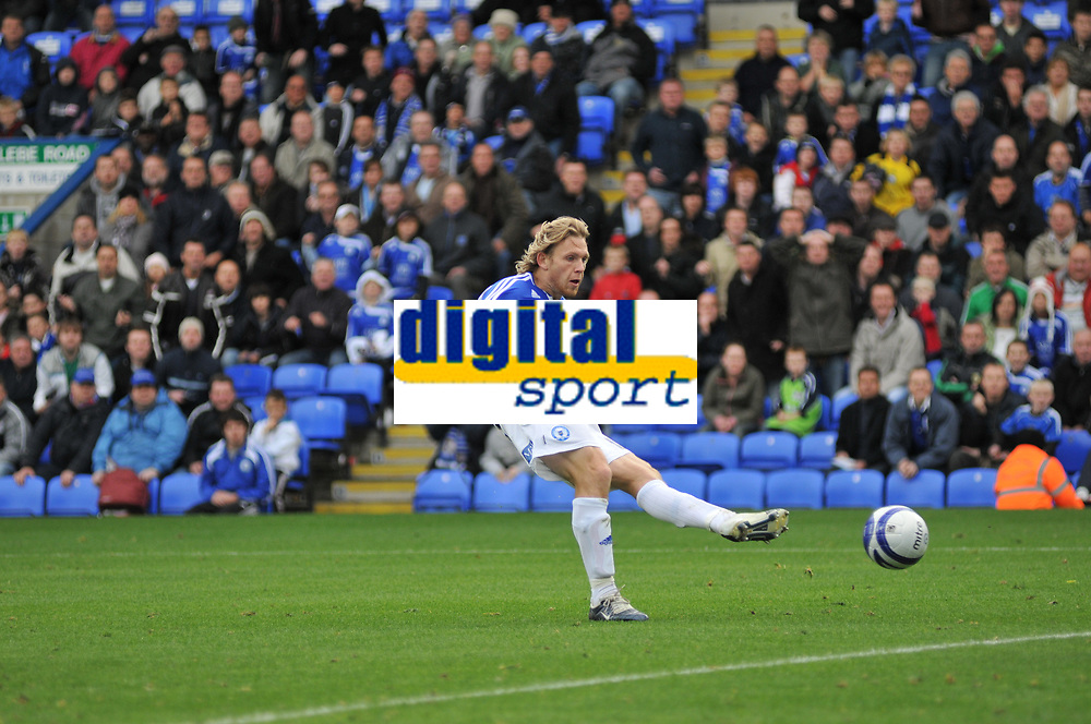 Photo:Tony Oudot/Richard Lane Photography. Peterborough United v Leeds United. Coca-Cola Football League One. 04/10/2008. Craig Mackail-Smith of Peterborough scoring the second goal.