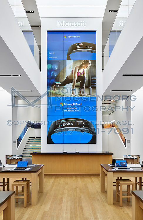 Microsoft retail store on 5th Avenue in NYC photographed by John Muggenborg.