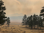 Smoke fills Moraine Park as the East Troublesome Fire burns in Rocky Mountain National Park, October 24, 2020. © 2020 William A. Cotton