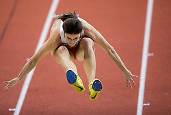 Michalska Jagaciak of Poland competes in the Triple Jump Women Qualification on day one of the 2017 European Athletics Indoor Championships at the Kombank Arena on March 3, 2017 in Belgrade, Serbia. Photo by Vid Ponikvar / Sportida