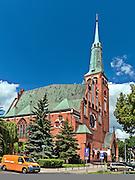Szczecin, (woj. zachodniopomorskie), 15.07.2013. Kościoł pod wezwaniem świętego Wojciecha na Placu Zwycięstwa w Szczecinie.