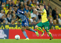 Charlton Athletic's Regan Charles-Cook and Norwich City's James Maddison battle for the ball