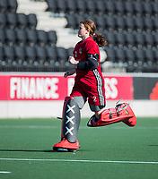 AMSTELVEEN -  keeper Zoe van den Barselaar (A'dam)  voor  de oefenwedstrijd tussen Amsterdam en Laren dames   COPYRIGHT KOEN SUYK