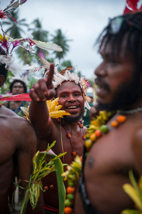 Mbore men celebrate the Mborena Kam New Testament dedication on July 26, 2017, in Madang Province, Papua New Guinea. The work to translate the New Testament into this language, one of more than 800 in Papua New Guinea, took over 30 years.