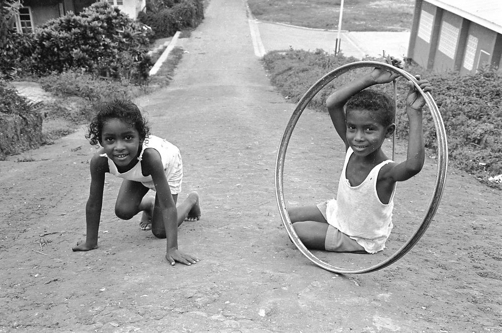 Children in the willage Blanchisseuse in Trinidad, West Indies.