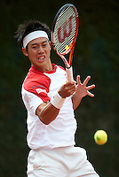 BARCELONA, SPAIN - APRIL 20: Kei Nishikori of Japan, The ATP 500 World Tour Barcelona Open Banco Sabadell 2011 tennis tournament at the Real Club de Tenis on April 20, 2011 in Barcelona, Spain. (Photo by Manuel Queimadelos Alonso)