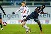 Fotball , 28 Oktober 2017 , Eliteserien , Kristiansund - Odd , Fredrik Lund Nordkvelle , Aliou Coly<br /> <br /> <br />  , Foto: Marius Simensen, Digitalsport