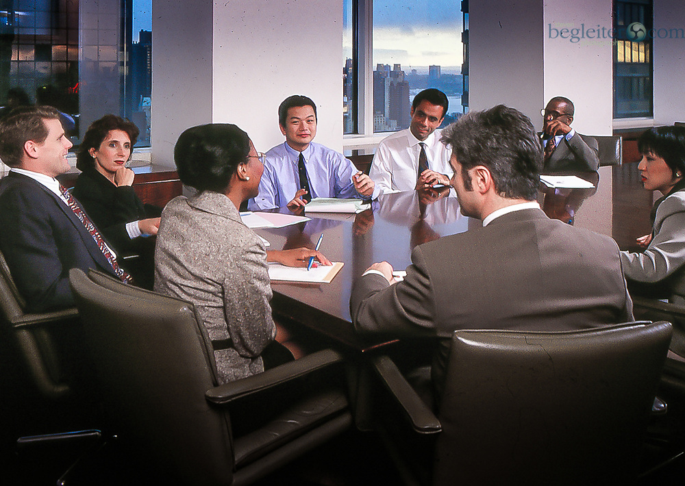 Diverse group of people  in a corporate meeting in NYC