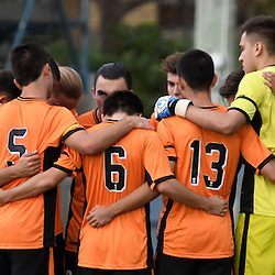 BRISBANE, AUSTRALIA - DECEMBER 3: Brisbane Roar players united before the round 4 Foxtel National Youth League match between the Brisbane Roar and Melbourne City at AJ Kelly Field on December 3, 2016 in Brisbane, Australia. (Photo by Patrick Kearney/Brisbane Roar)